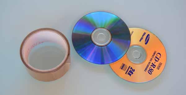 Materiales para pelar CDs