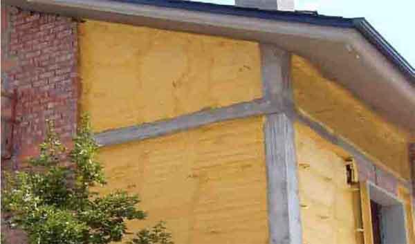 espuma de poliuretano fachada