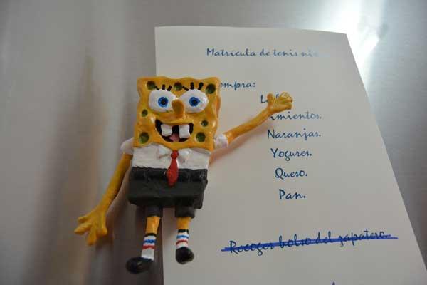 Bob Esponja modelado en 3D con arcilla 1