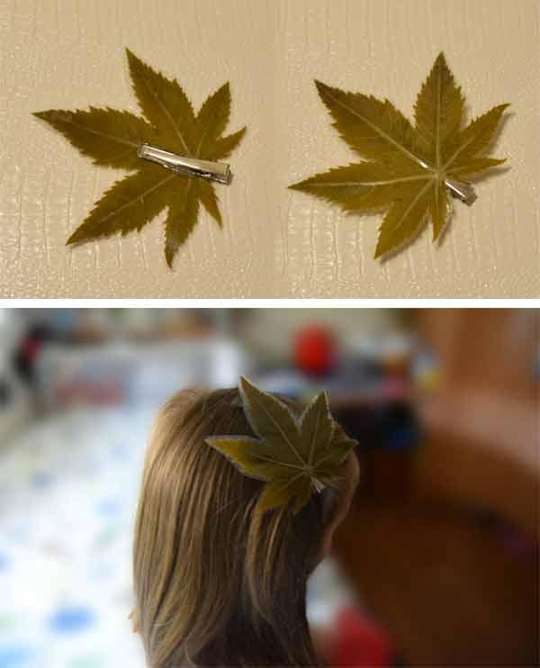manualidades con hojas plastificadas Coletero