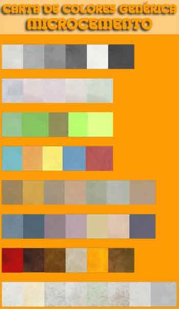microcemento gama de colores basica Chica
