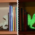 Tope sujeta libros infantil luminiscente