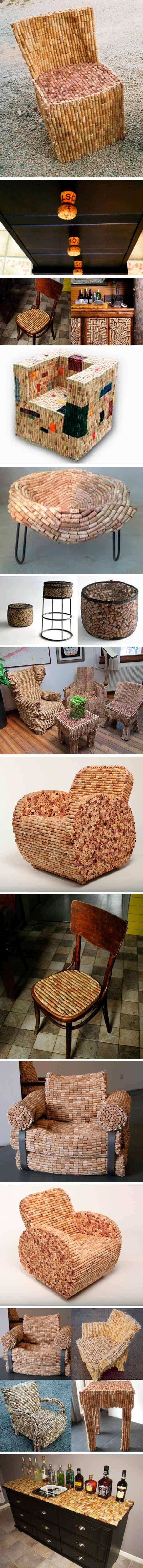reciclar tapones de corcho - mobiliario