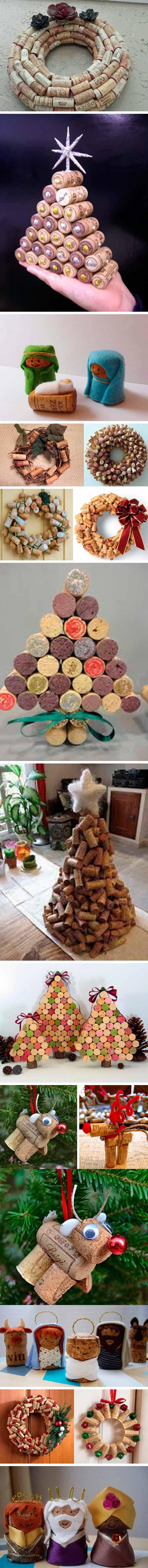 reciclar tapones de corcho - navidad