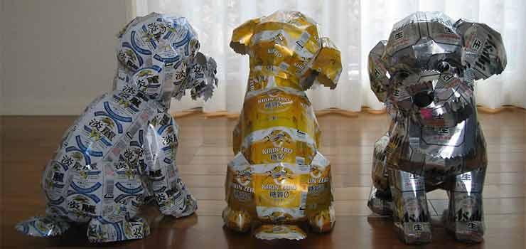 Latas recicladas, haciendo esculturas - Destacada