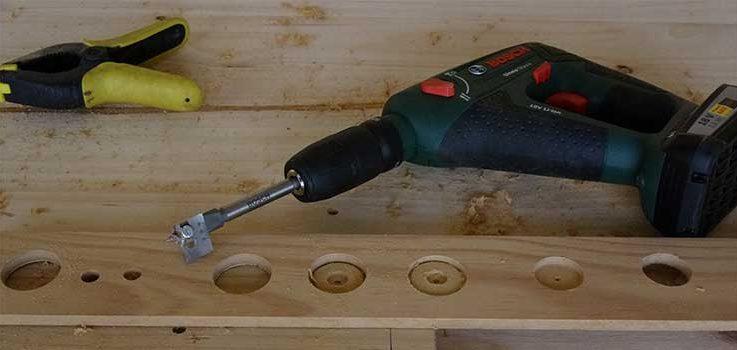 Brocas para madera en bricolaje