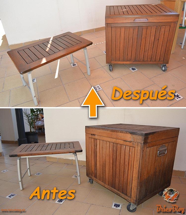 Como proteger la madera de exteriores - Antes y despues - foto 1