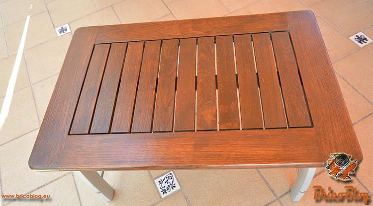 Como proteger la madera de exteriores - Mesa restaurada - foto 10