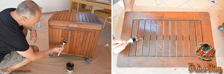 Como proteger la madera de exteriores - Segunda y tercera mano de acabado protector - foto 6
