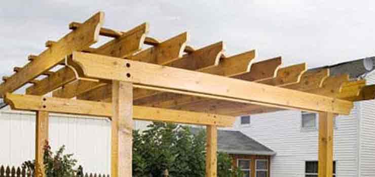 Construcci n de una p rgola de madera paso a paso - Construccion de pergolas de madera ...