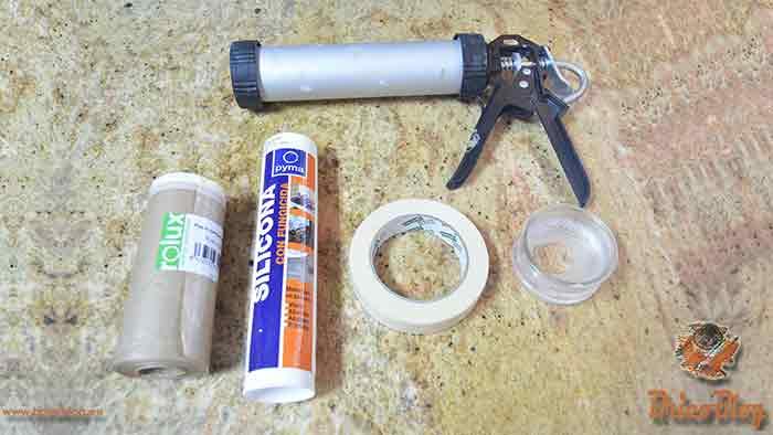 2 como aplicar silicona - Materiales