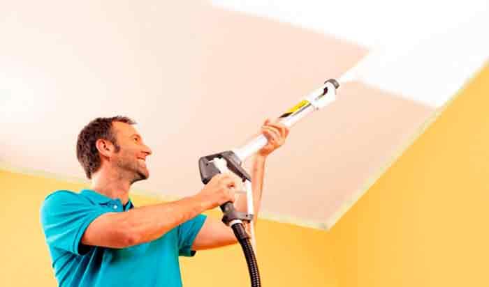 pintar paredes con un compresor de aire - foto 2