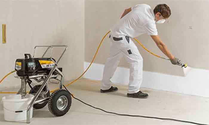 pintar paredes con un compresor de aire - foto 3