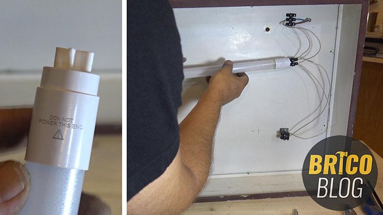 sustituir tubos fluorescentes por tubos led - foto 5
