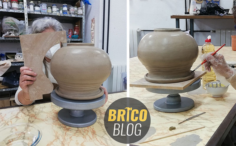 como hacer un torno para ceramica - foto 16